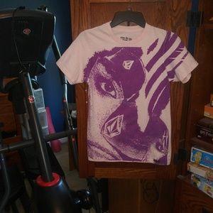 Volcom pink/purple short sleeve t-shirt size S